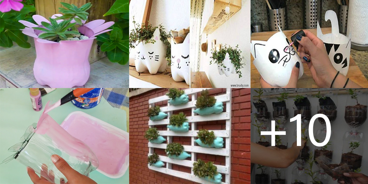 DECORACIONES CON BOTELLAS PLÁSTICAS
