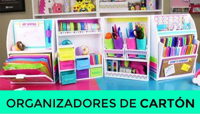 CURSO DE ORGANIZADORES DE CARTÓN PASO A PASO