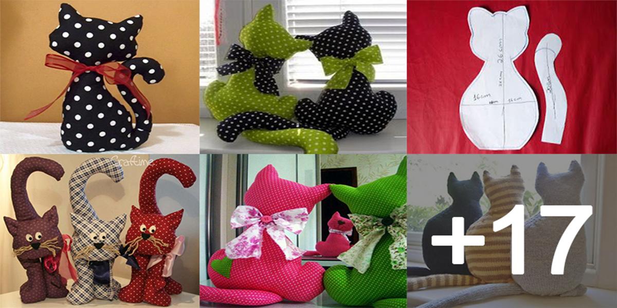 Aprende como hacer cojines de gatos con patrones para decorar su hogar