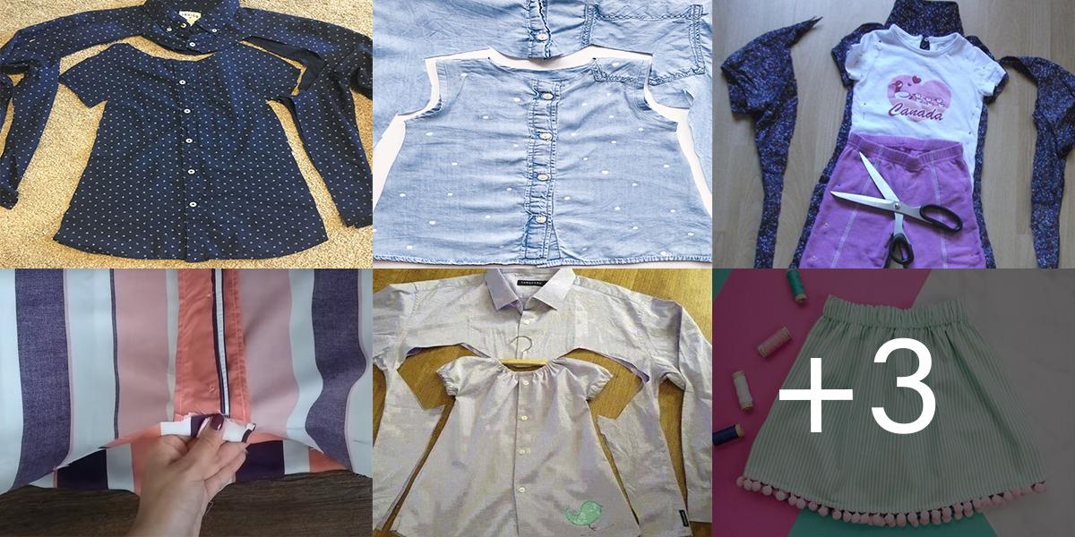 Aprende a reutilizar tu ropa para hacer ropa de niñas paso a paso