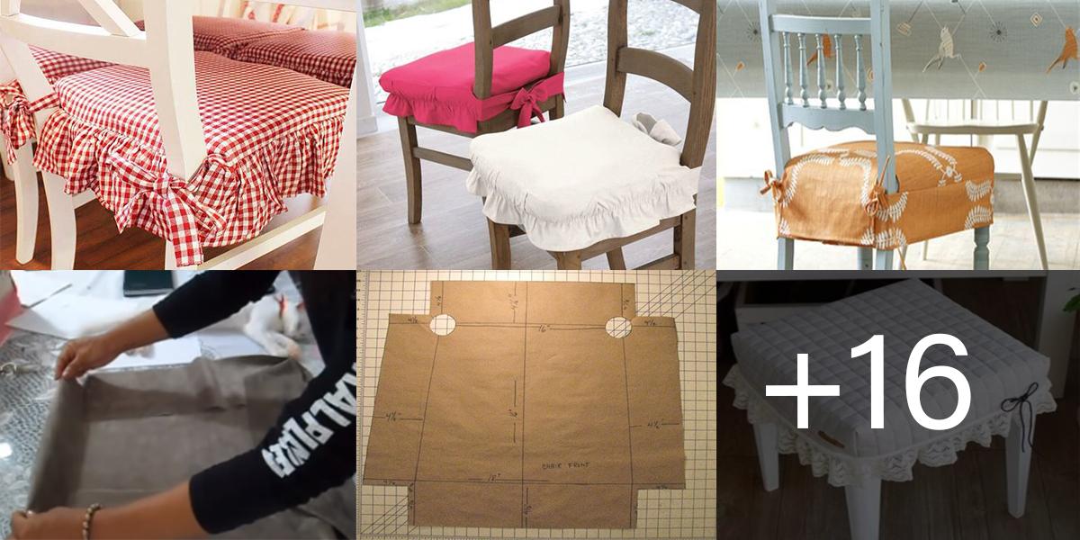 Aprende hacer Forros de sillas con patrones paso a paso