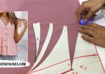 Aprende A Como Hacer Blusa Elegante Con Patrón Paso A Paso