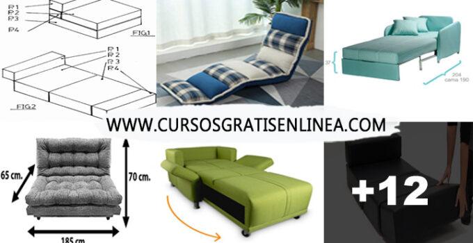 Como hacer sofa cama convertible muy fácil paso a paso